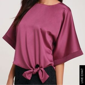 Lulus pink top never worn !
